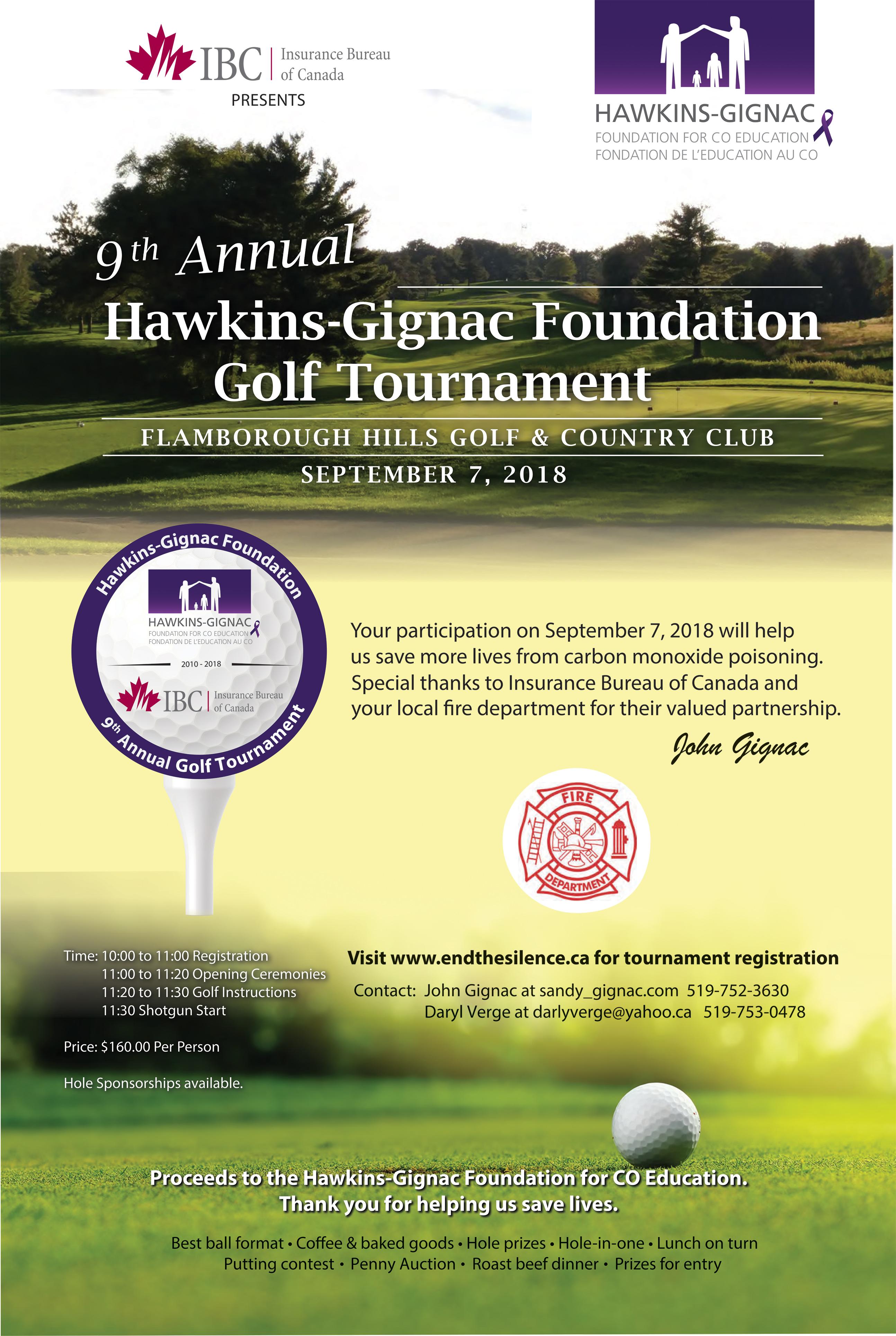 Hawkins-Gignac Golf Tournament 2018